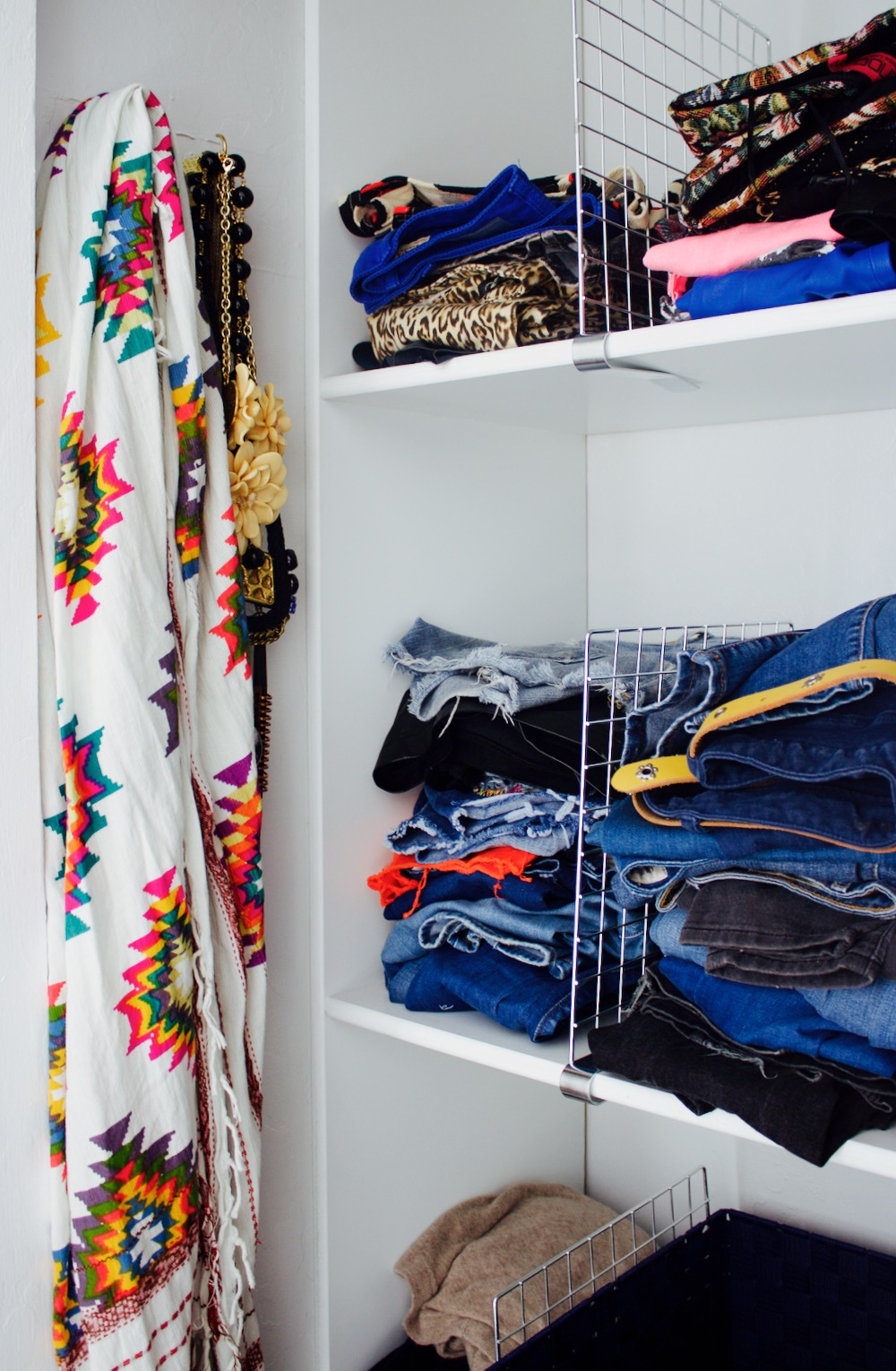 Simple closet organizers add tons of extra storage space