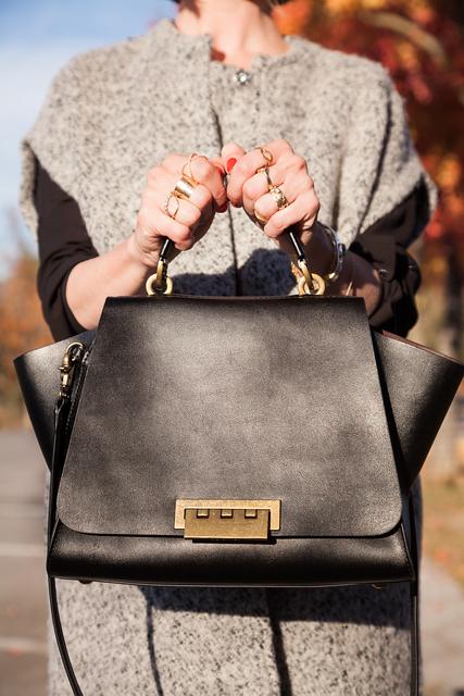 Zac by Zac posen top-handle Eartha bag in black leather