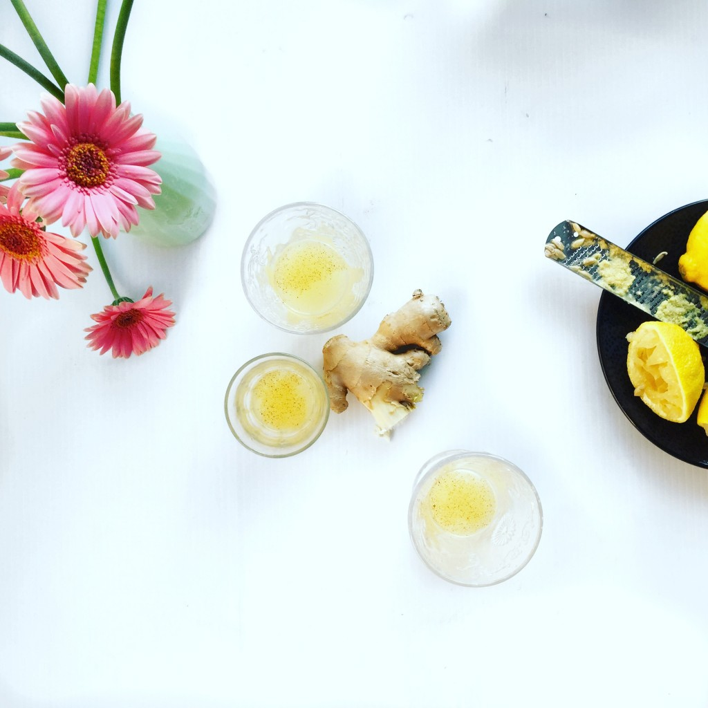 how to make a lemon juice, fresh ginger and cayenne pepper shot