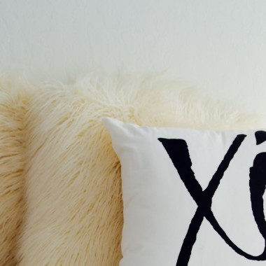 XO pillow as a Valentine's Day gift