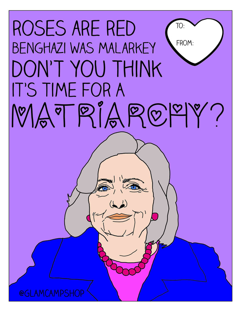 Democratic Presidential Candidate Valentine's Day cards