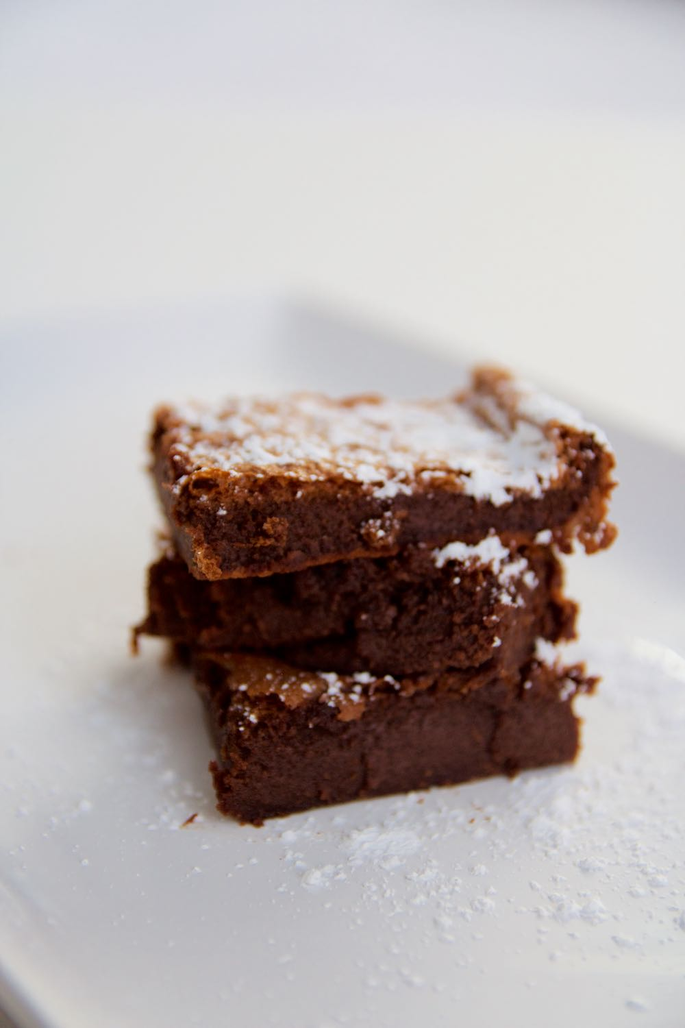 Two-ingredient brownies made with Nutella chocolate hazelnut spread
