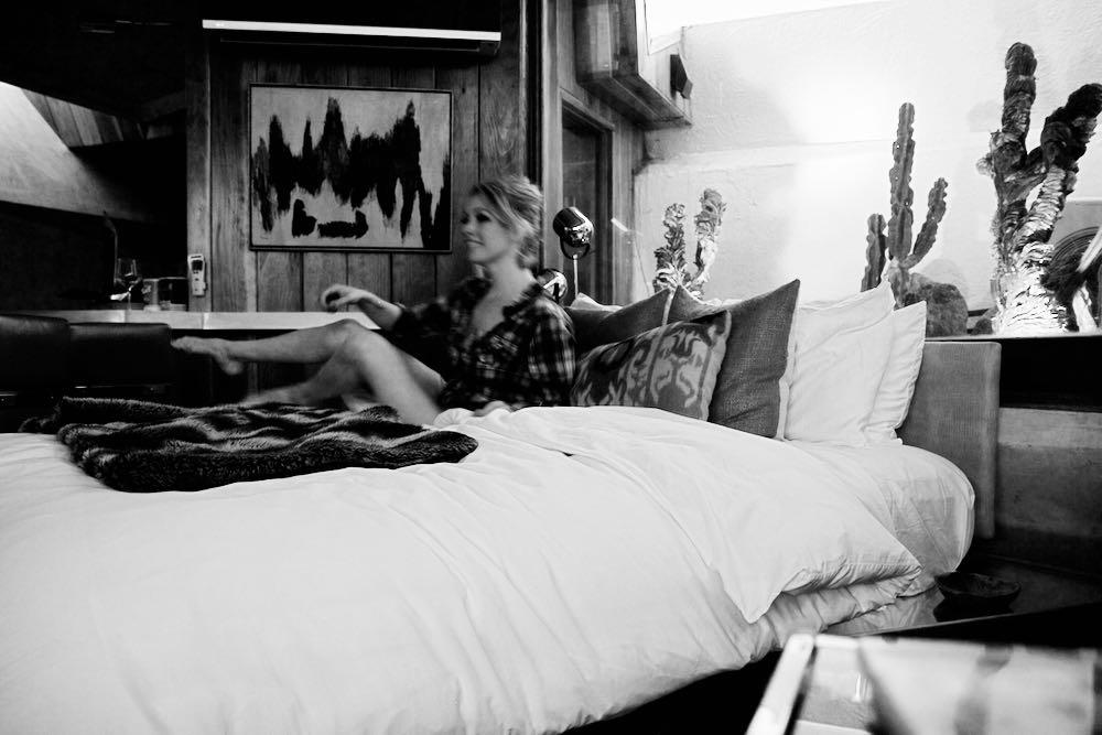 Jordan Reid at the Hotel Lautner in Desert Hot Springs