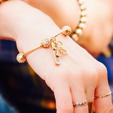 Go Gratitude bracelet in gold