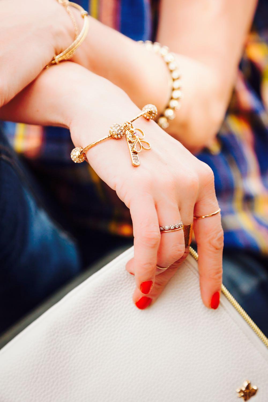 The Go Gratitude gold bracelet