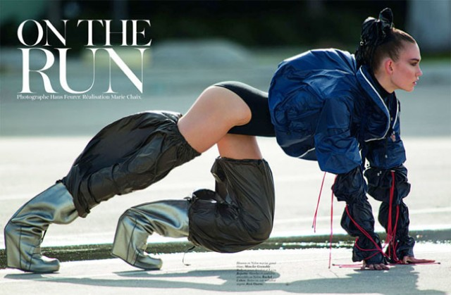 Karlie Kloss in the March issue of Vogue Paris