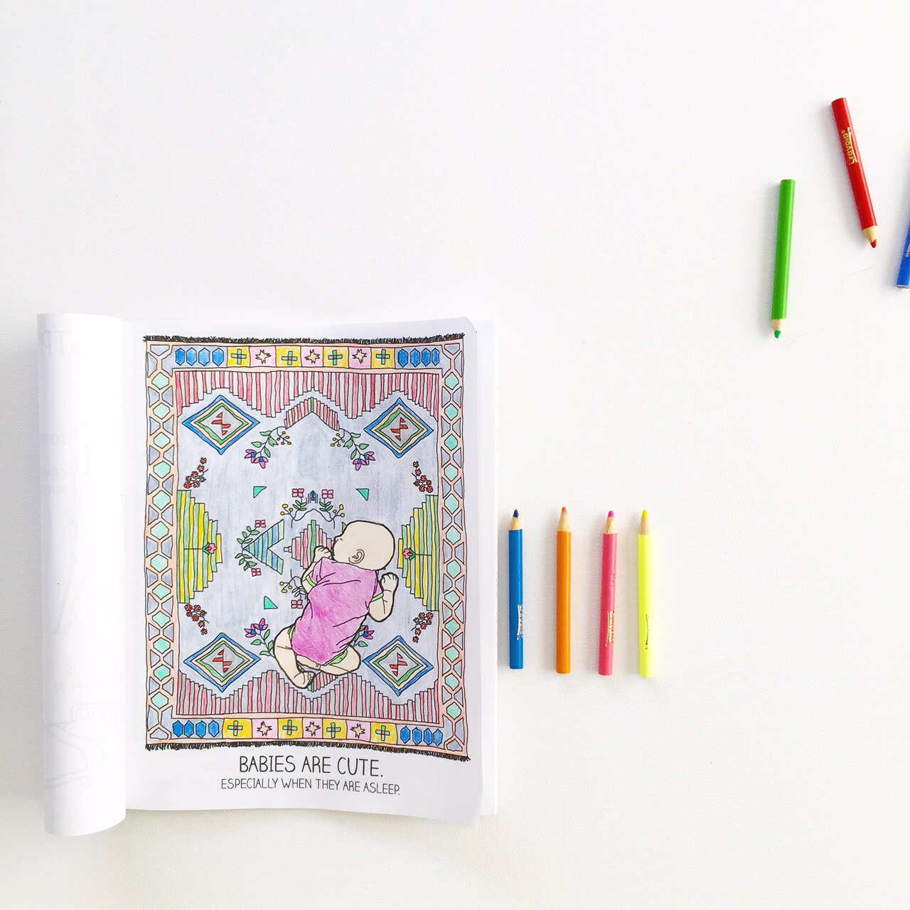 A funny coloring book for new parents