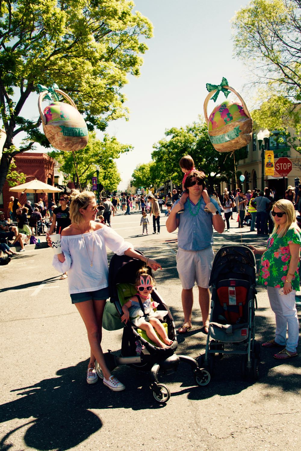 Easter Day parade in Campbell, California