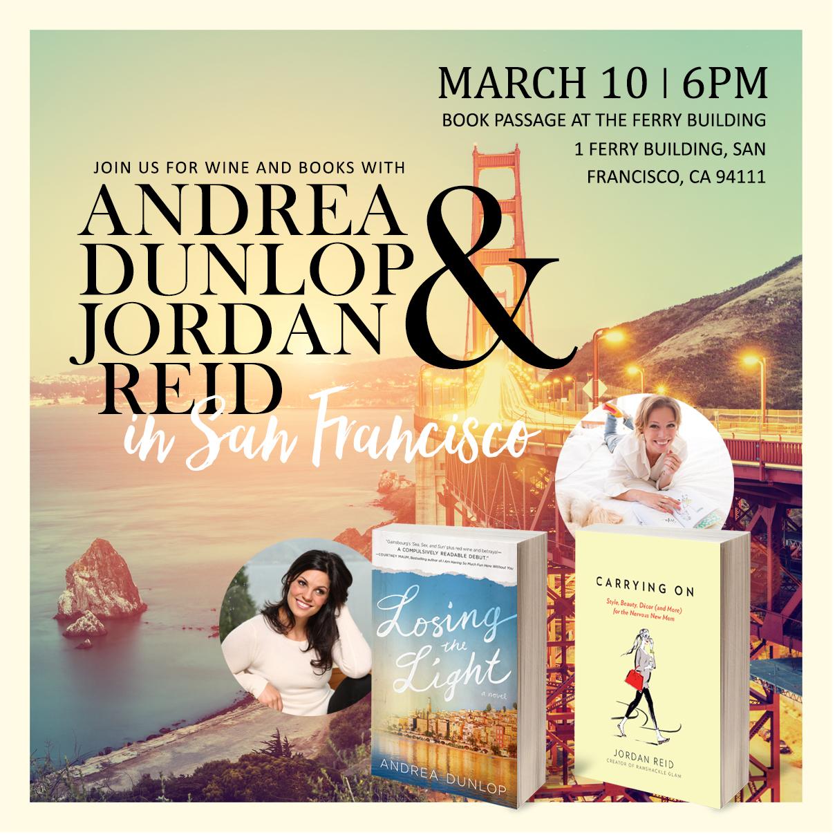 Jordan Reid and Andrea Dunlop book event