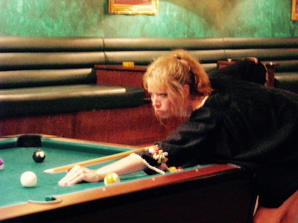 Very serious about my pool-playing