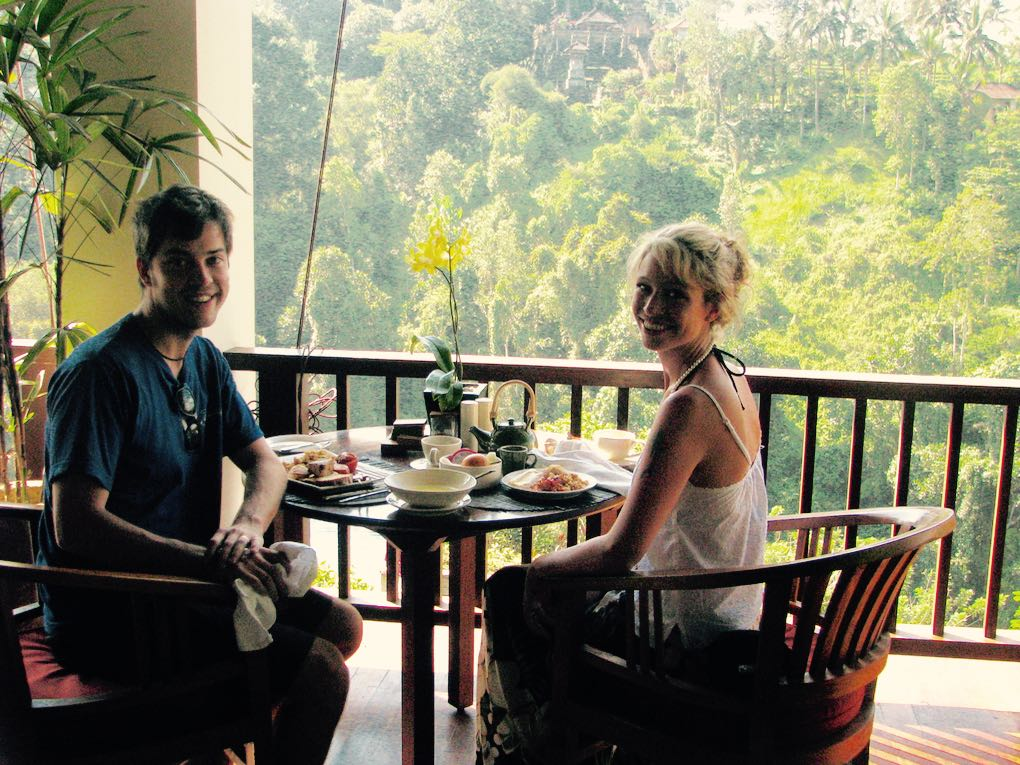 Breakfast on a honeymoon in Bali