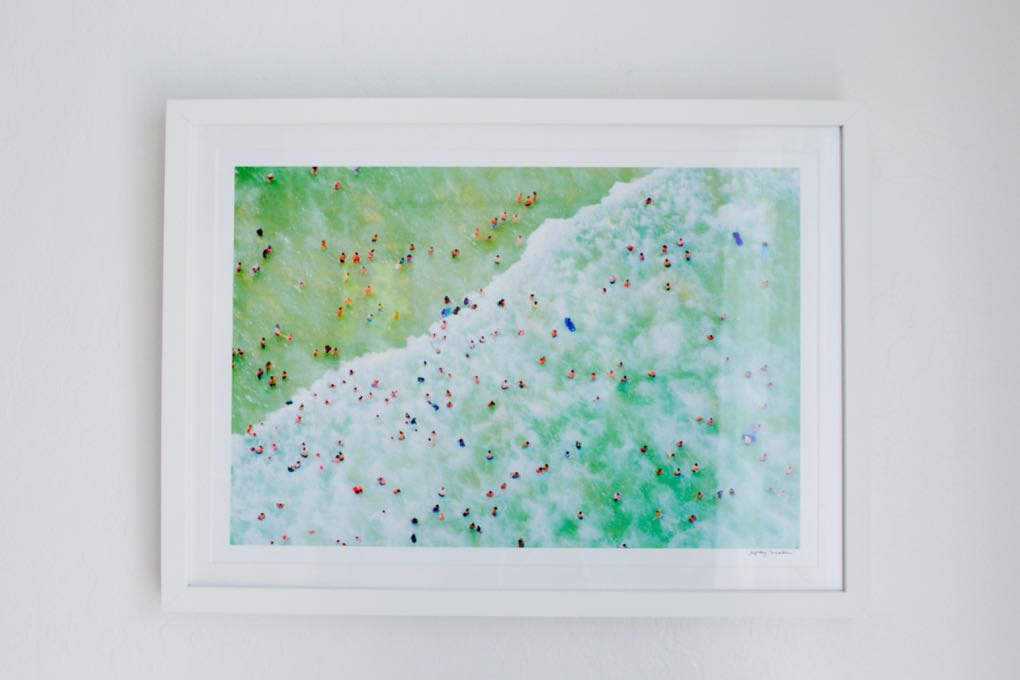 Gray Malin's Coogee Beach aerial photograph with free framing