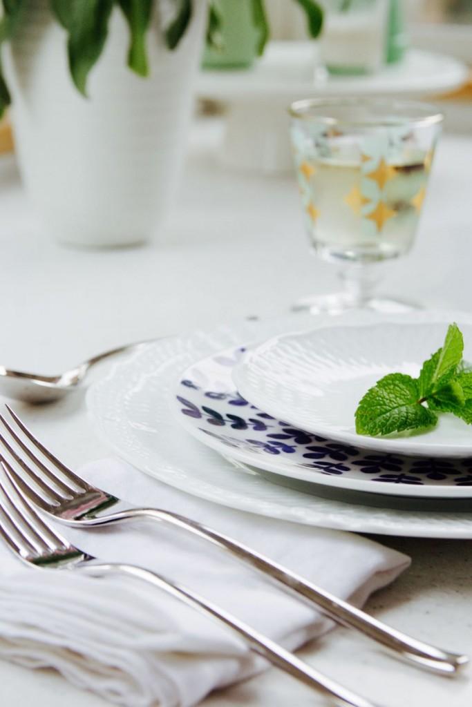 Blue and white mix and match china