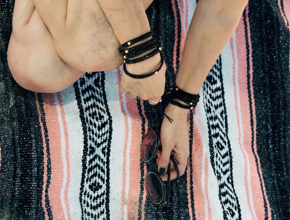 Victoria Emerson wrap bracelets with skulls