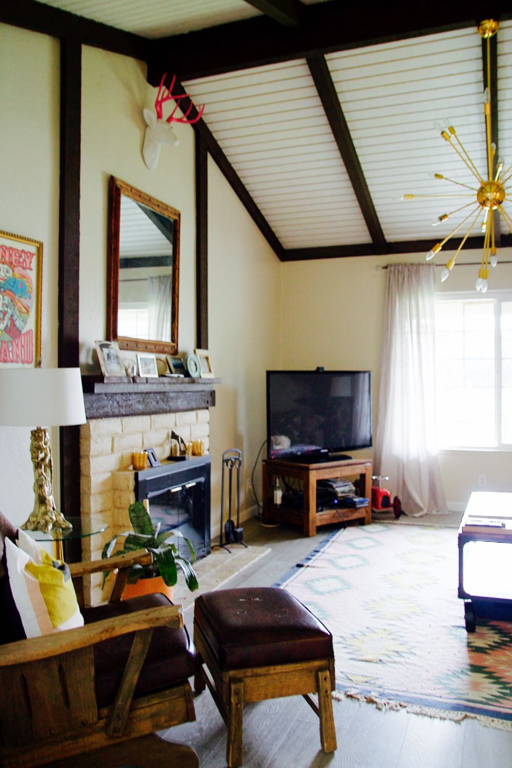 The Living Room Beach House Makeover Before And After