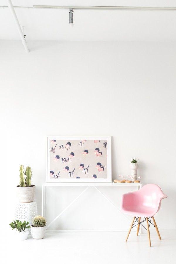 Miami pink umbrellas print by Gray Malin