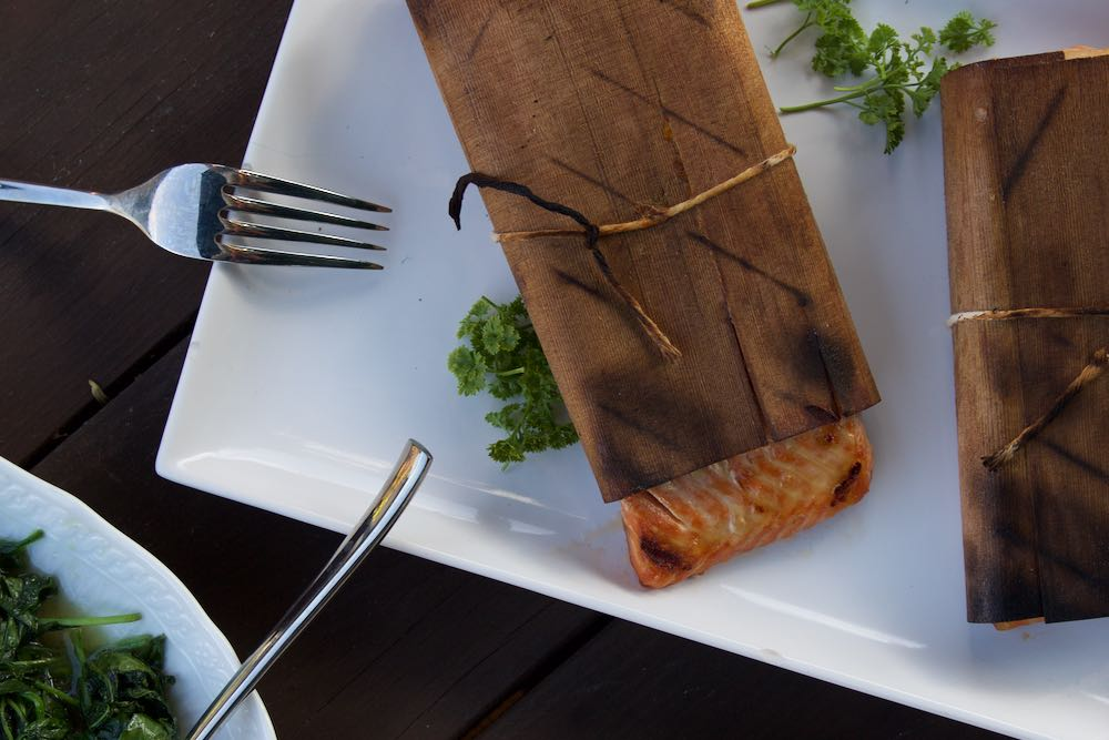 cedar-wrapped asian salmon recipe for the grill