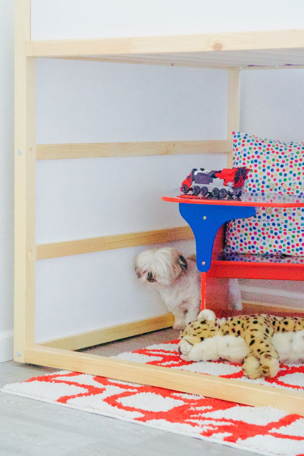 Creating a play area under the Ikea lofted bed