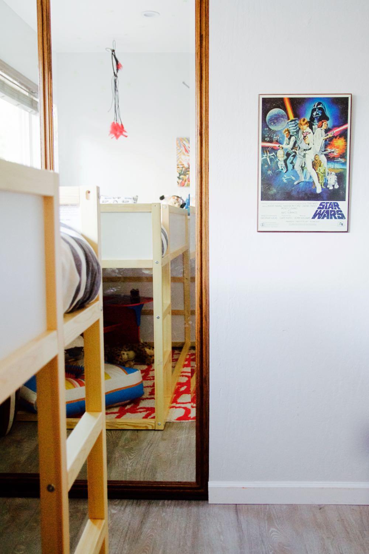Ikea Kura Bunk Bed in a little boy's room