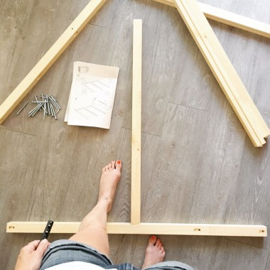 Putting together the Ikea Kura bunk bed