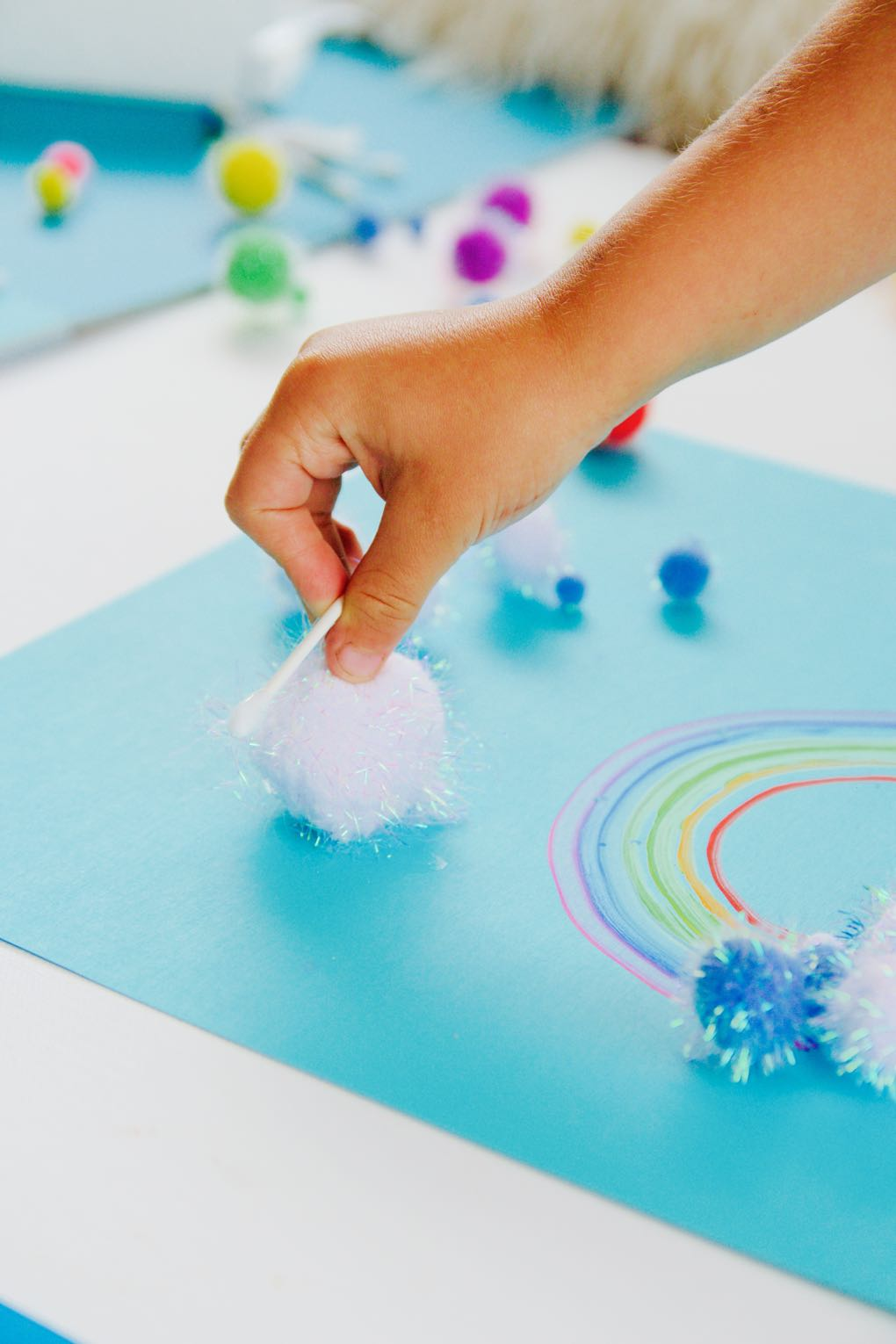 easy craft for kids to make a diy rainbow