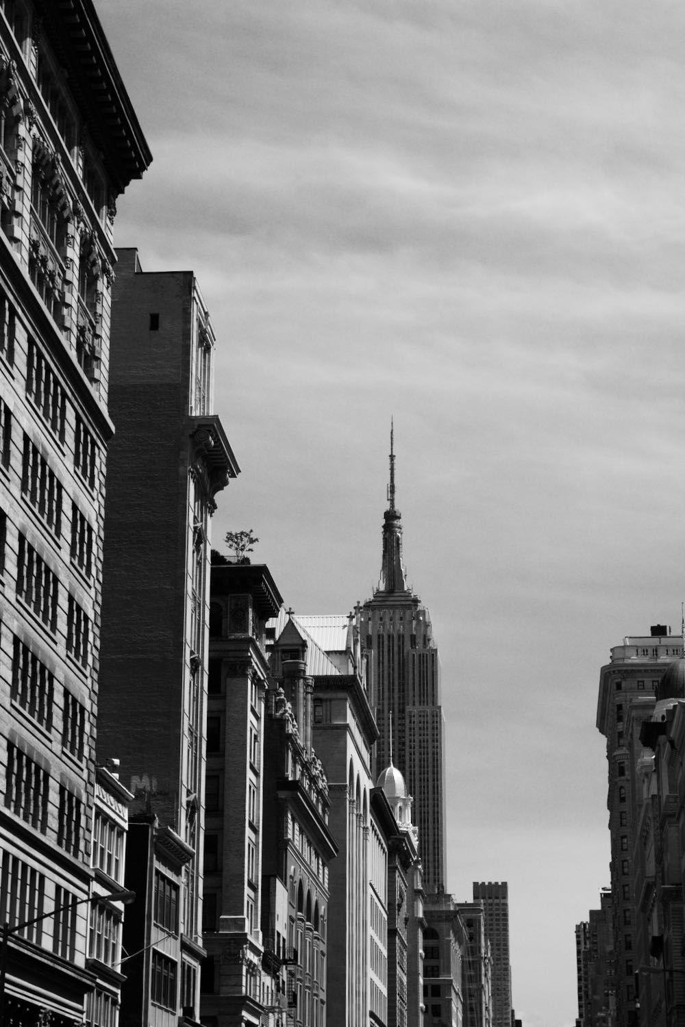The empire state building 2016 in black and white