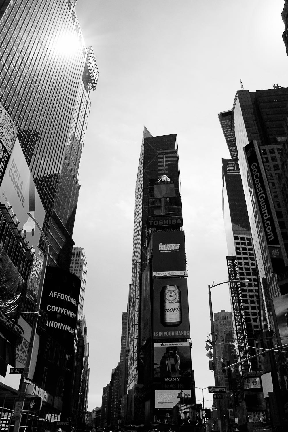 Times square 2016 in black and white