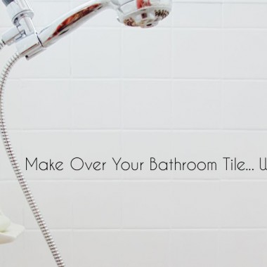 how to make your bathroom tiles white with paint