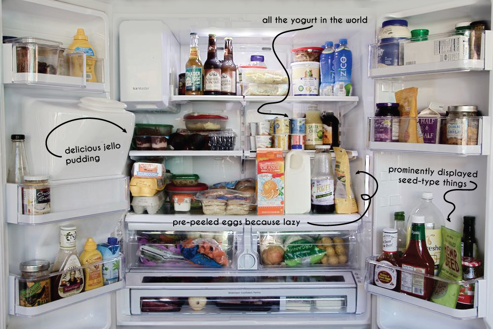 what's in the refrigerator of a mom of two