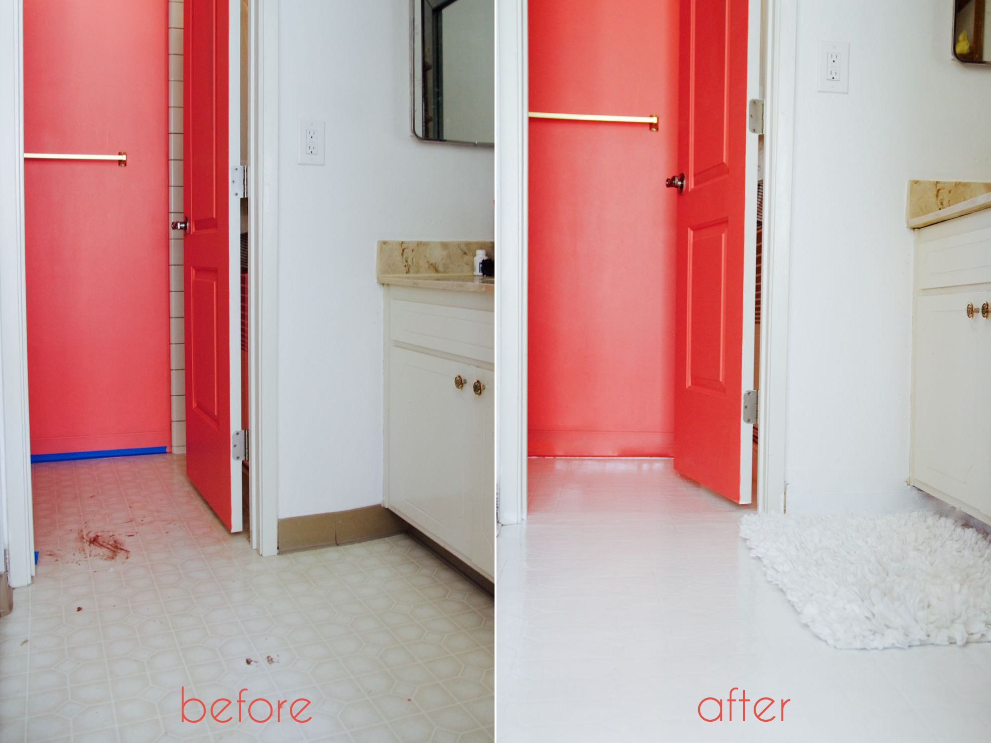 A bathroom tile makeoverwith paint ramshackle glam how to refresh the look of your bathroom tile using paint dailygadgetfo Images