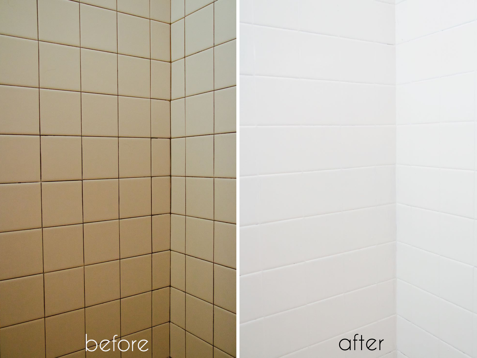 Painted tiles in bathroom -  Can You Paint Over Bathroom Tile