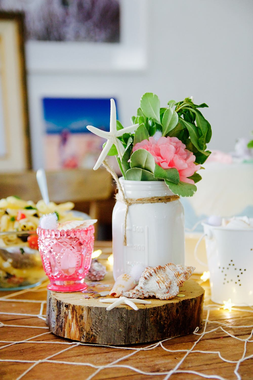 Decorations for a chic and elegant little girl's birthday party
