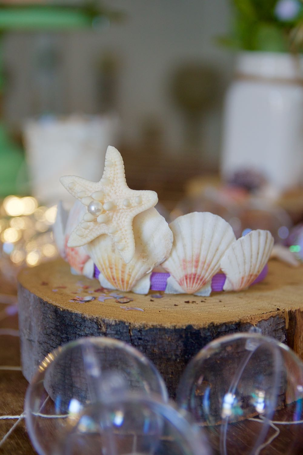 How to make a DIY seashell crown