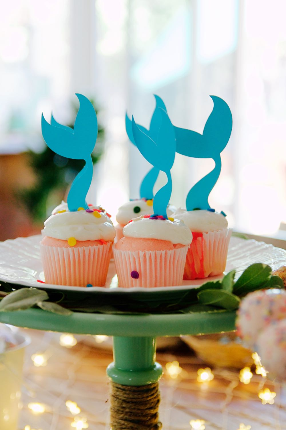 Adorable whale tale accessories for cupcakes