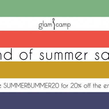glam camp shop sale