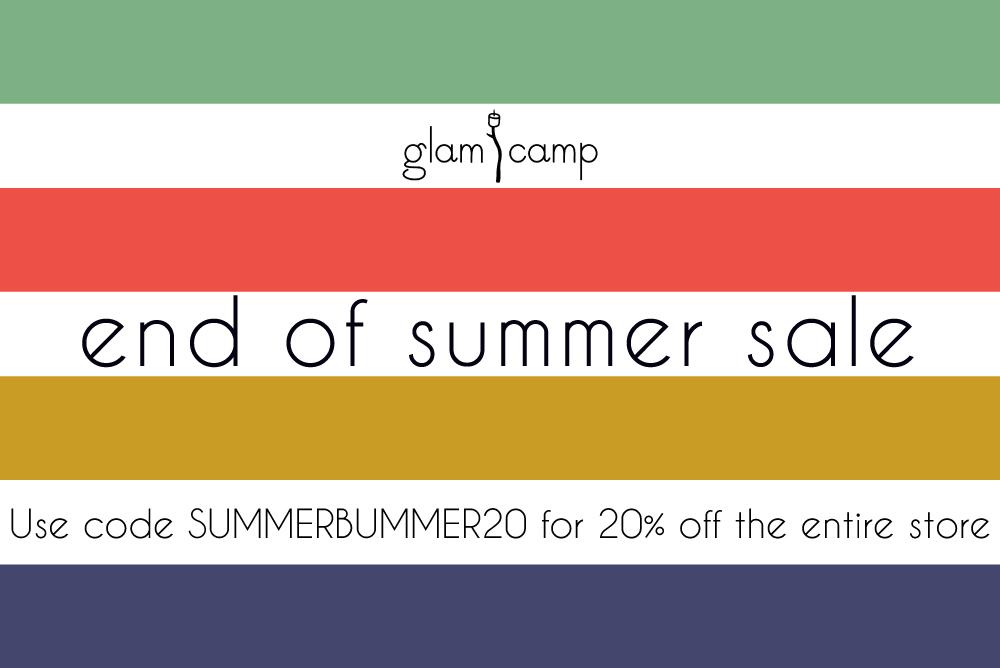 glam camp shop sale
