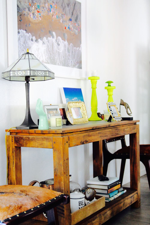 Dining room console decor ideas