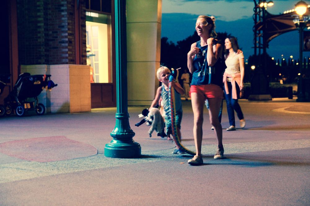 hanging out at downtown disney
