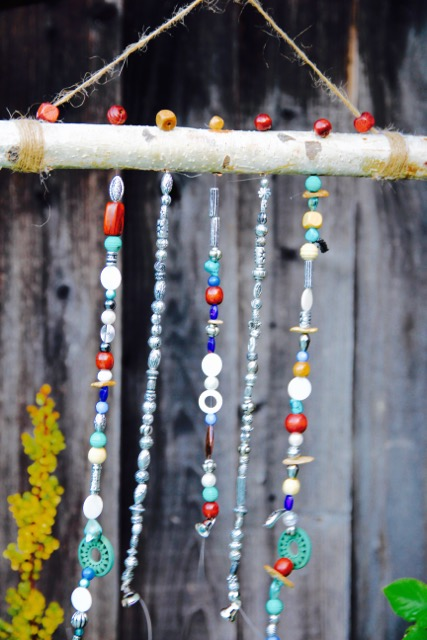 how to make a beaded wind chime with driftwood