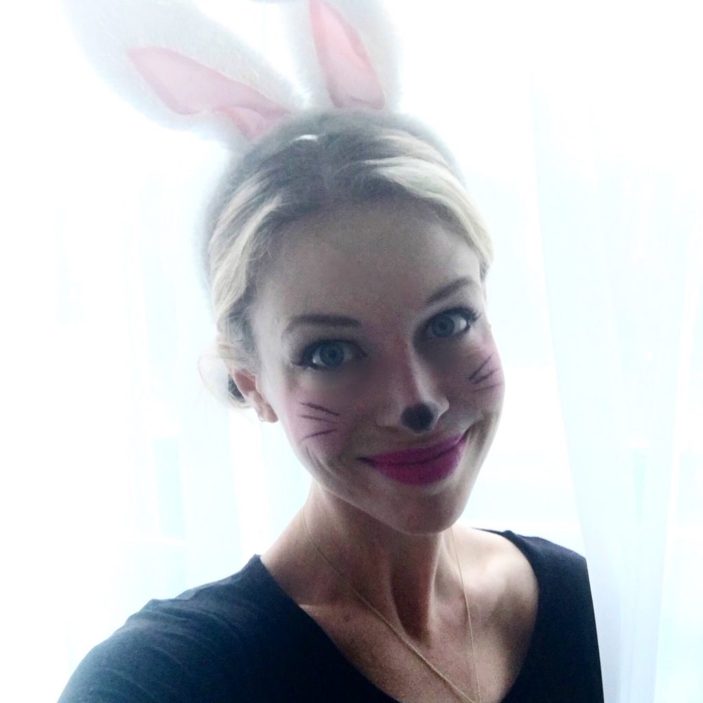 easy bunny makeup for halloween
