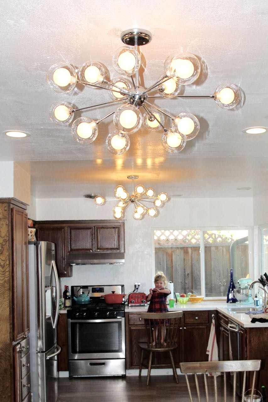 Inexpensive flush mount sputnik light fixture
