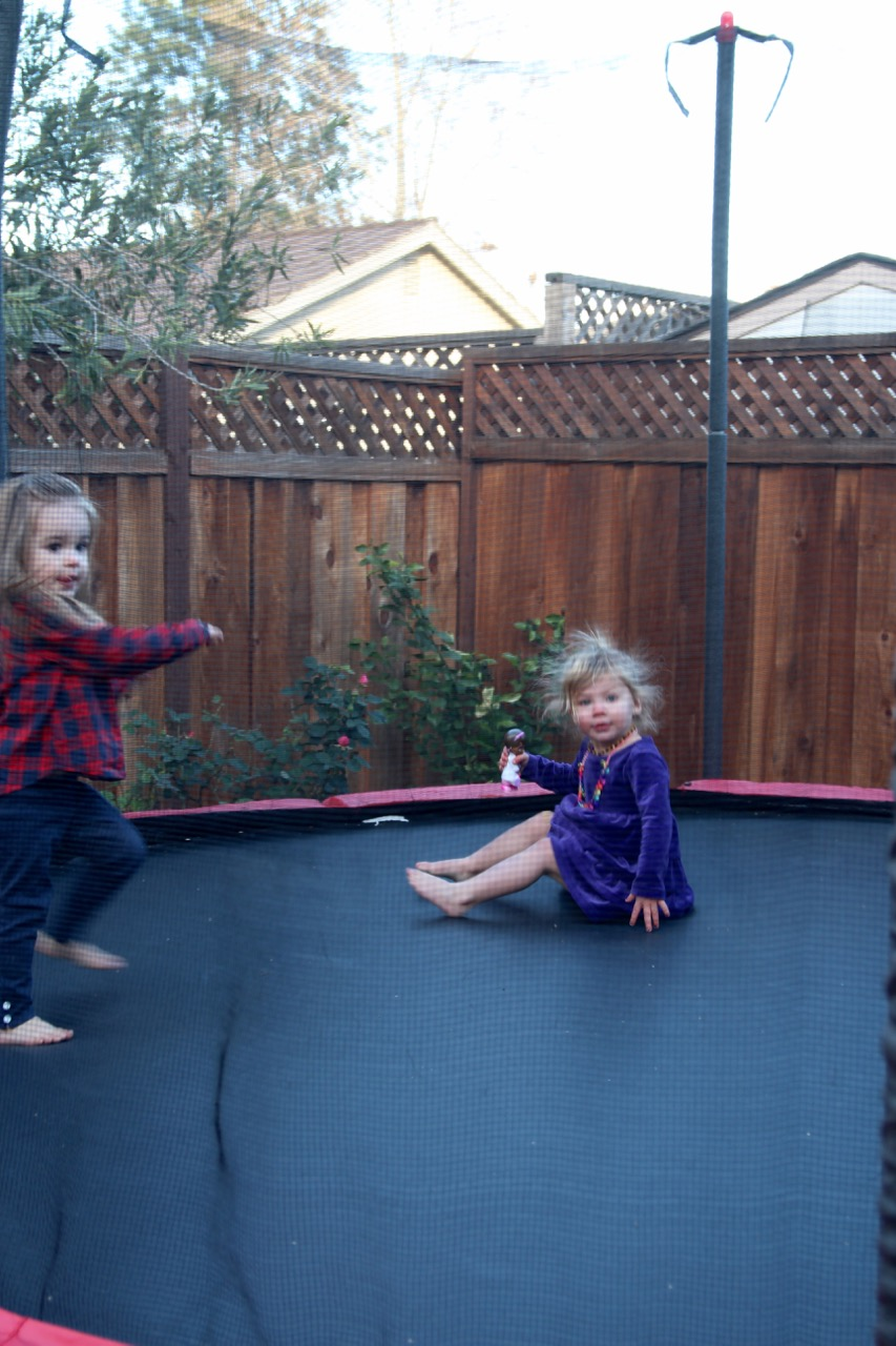 trampolining with static electricity