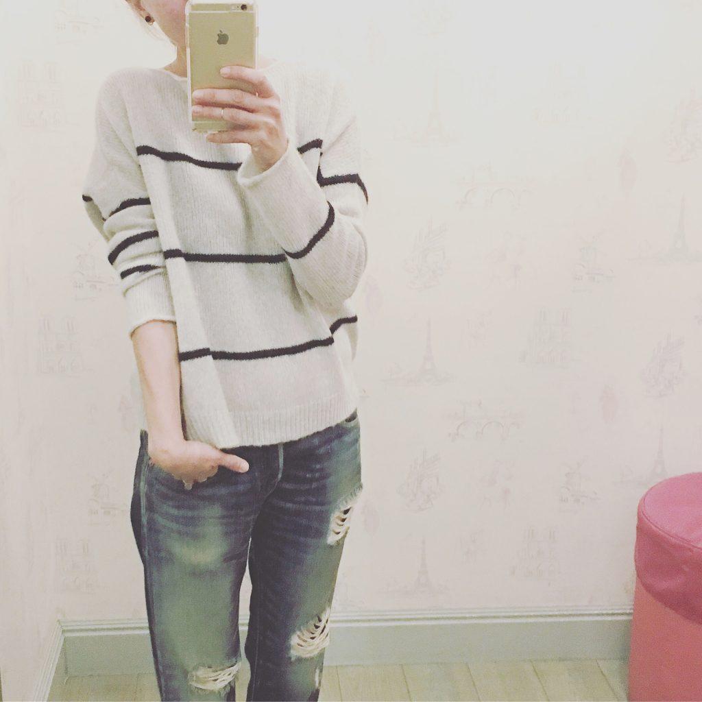 striped cashmere 360 sweater