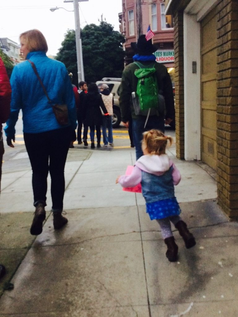 women's march on san francisco jan 21 2017 with kids