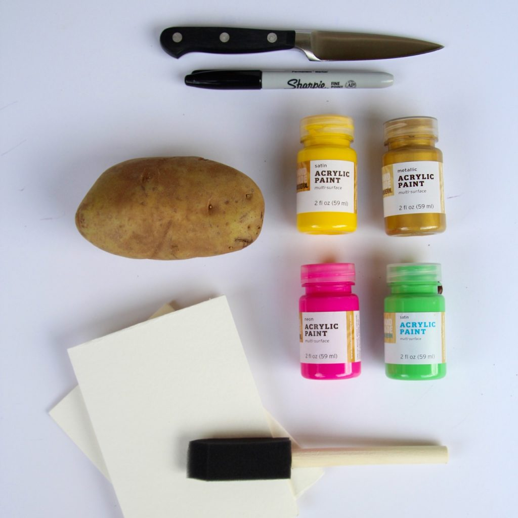 how to make easy potato stamp valentines for kids