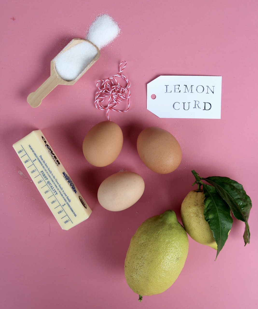 ingredients for homemade lemon curd