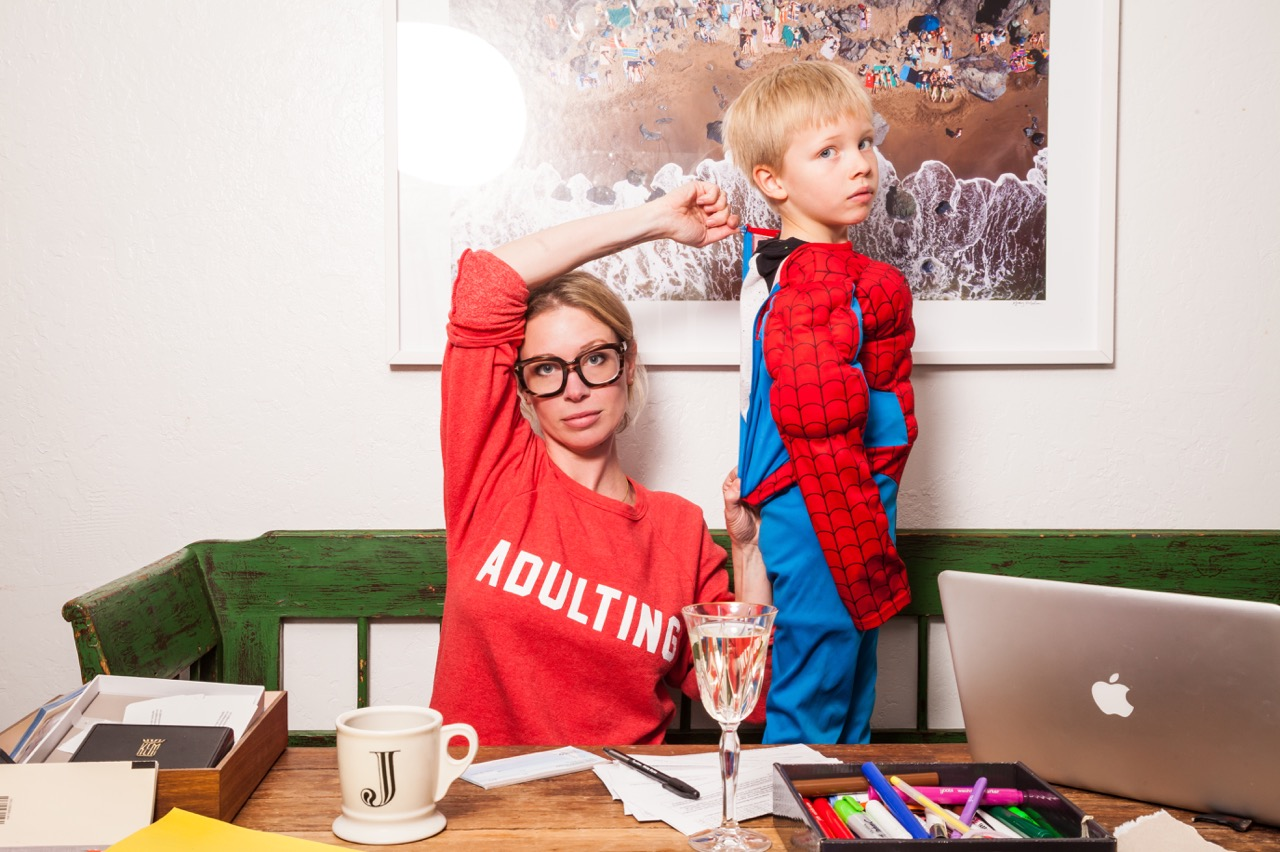 the adulting sweatshirt from glam camp and ramshackle glam