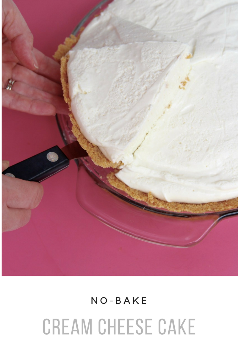 easy no bake cream cheese pie