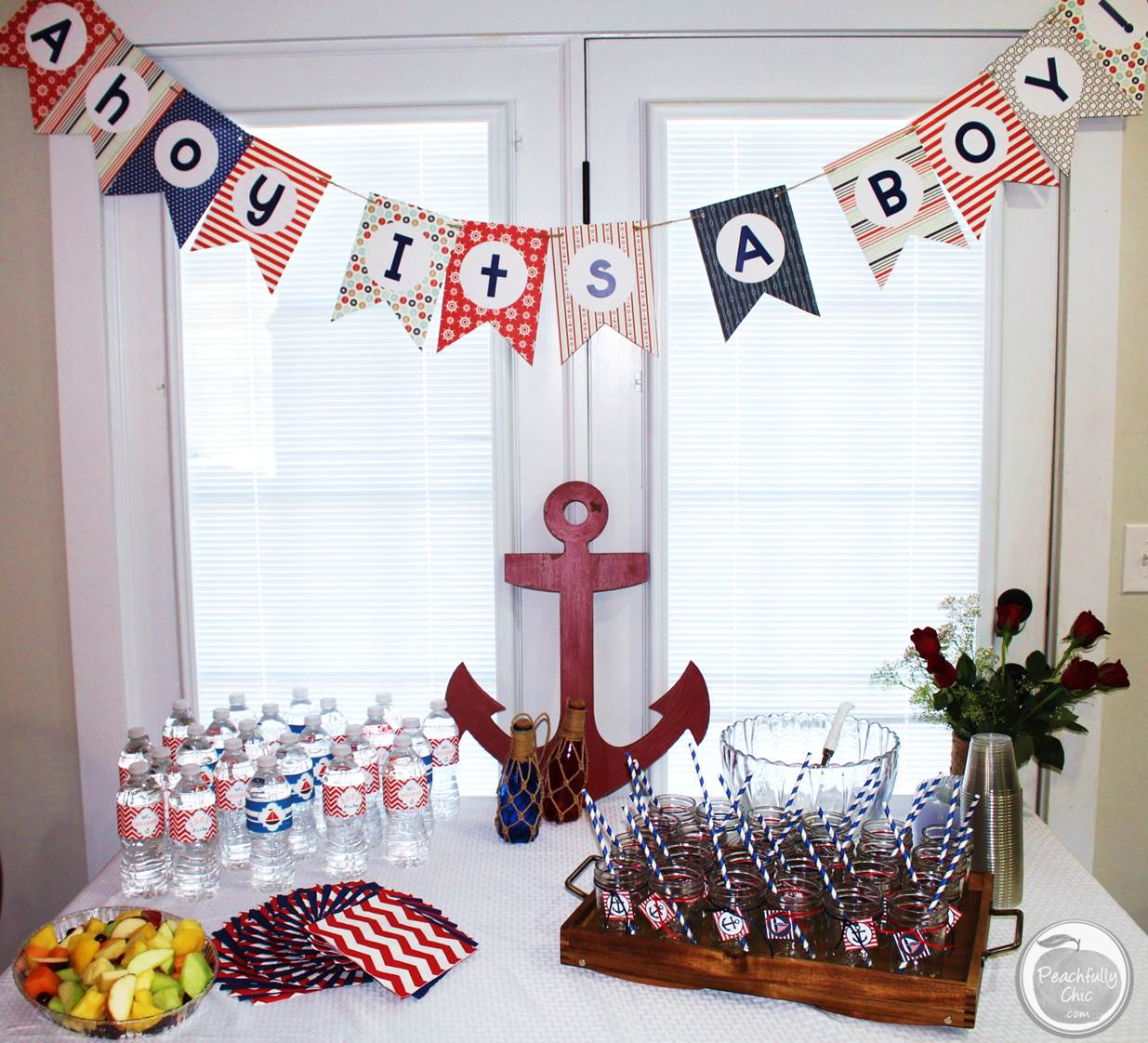 10 ideas for a nautical themed baby shower ramshackle glam for Baby shower theme decoration