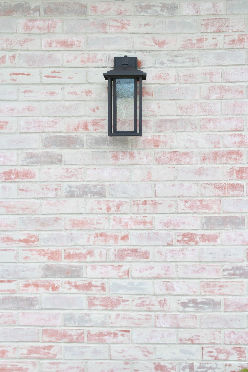 how to do a German smear mortar wash on your ugly brick